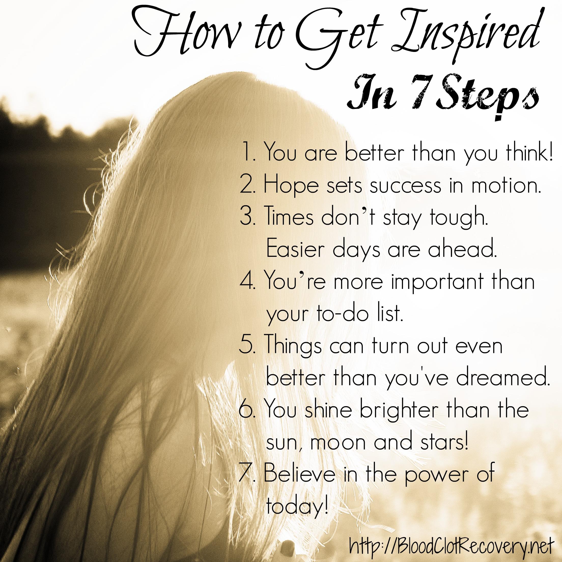 Thursday Inspiration... 7 Steps To Motivation