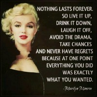 #TipsyTuesday... Marilyn Monroe Says...